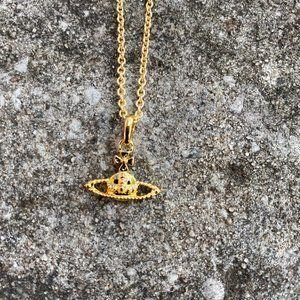 Vivienne Westwood Mini Orb Necklace Gold